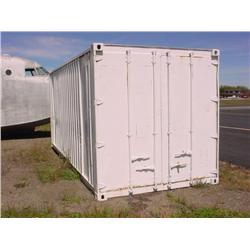 20' metal cargo container - wood floor, good condition