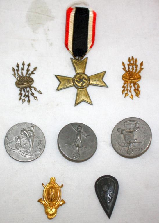 Old German Third Reich Nazi Medals and Pins