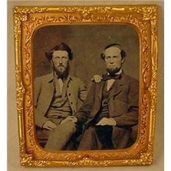 CIVIL WAR ERA TINTYPE PHOTO IN FRAME - UNUSUAL!  2