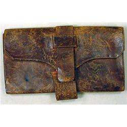 CIVIL WAR ERA LEATHER WALLET OWNER INFO WRITTEN IN