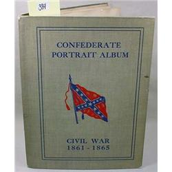 "VINTAGE CIVIL WAR ""CONFEDERATE PORTRAIT ALBUM"" BOO"