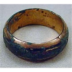 CIVIL WAR ERA WEDDING RING W/ HALLMARKS INSIDE
