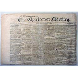 1-17-1865 CIVIL WAR ERA NEWSPAPER - CHARLESTON MER