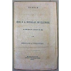 1854 HON. S. A. DOUGLAS SPEECH ON THE NEBRASKA TER