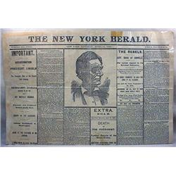 4-15-1865 NEWSPAPER - NY HERALD ON LINCOLN ASSASSI