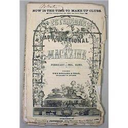 1865 CIVIL WAR ERA PETERSON'S LADIES NATIONAL MAGA