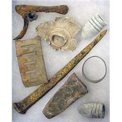 LOT OF CIVIL WAR RELICS FROM BATTLEFIELDS AND CAMP