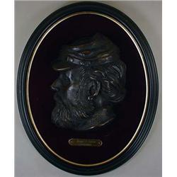 BRONZE PROFILE BUST OF SOLDIER, THOMAS J. JACKSON