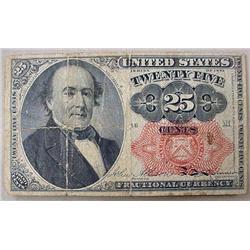 1864 CIVIL WAR ERA U.S. 25 CENTS FRACTIONAL CURREN