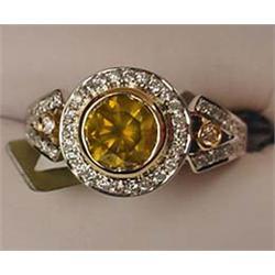 14K WHITE GOLD LADIES DIAMOND UNITY RING - Comes w