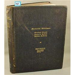 "1903 ""MEMORIAL ADDRESSES"" HARDCOVER BOOK - Abraham"
