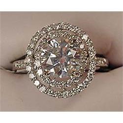 18K WHITE GOLD LADIES DIAMOND UNITY RING - Comes w