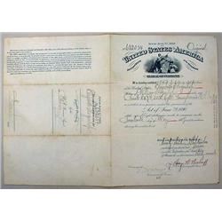 1907 WIDOWS PENSION CERTIFICATE FOR ELIZABETH SLOG