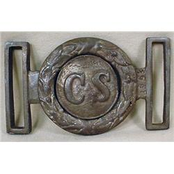 CONFEDERATE STATES 2-PIECE BELT BUCKLE MARKED 1862