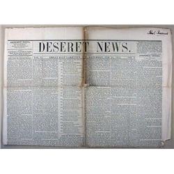 2-21-1852 NEWSPAPER - DESERET NEWS -GREAT SALT LAK