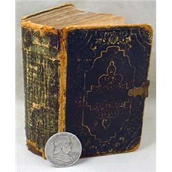 1855 POCKET-SIZE HOLY BIBLE W/ CIVIL WAR ERA NOTES