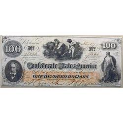 1862 CIVIL WAR CONFEDERATE STATES OF AMERICA 100 D