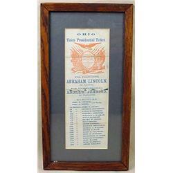 1864 ABRAHAM LINCOLN / ANDREW JOHNSON OHIO PRESIDE
