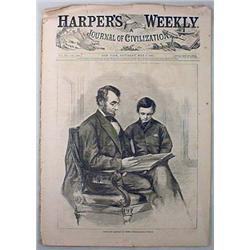 5-6-1865 CIVIL WAR ERA HARPER'S WEEKLY MAGAZINE -