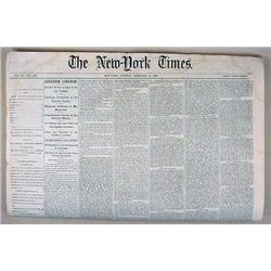 2-13-1866 NEWSPAPER - NEW YORK TIMES - ABRAHAM LIN