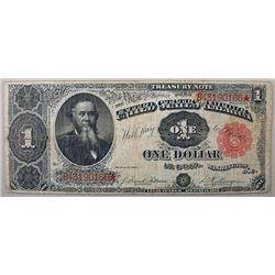 1891 1 DOLLAR TREASURY NOTE
