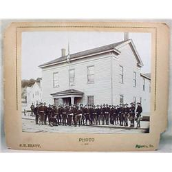 1896 MOUNTED PHOTO OF O.N.G. OFFICERS AT HEADQUART