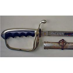 TURN OF THE CENTURY OFFICER'S SWORD W/ SHEATH - Or