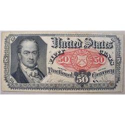 1864 CIVIL WAR ERA U.S. 50 CENTS FRACTIONAL CURREN