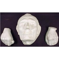 ABRAHAM LINCOLN LIFE MASK W/ NO BEARD AND 2 HANDS