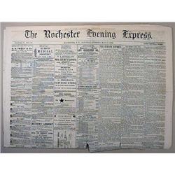 5-17-1862 CIVIL WAR ERA NEWSPAPER - THE ROCHESTER