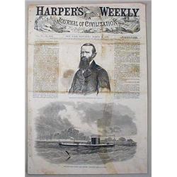 3-22-1862 CIVIL WAR ERA HARPER'S WEEKLY MAGAZINE -