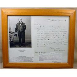1861 PHOTO AND LETTER FROM EDWIN M. STANTON - LINC