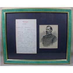 1865 CIVIL WAR ERA LETTER AND ENGRAVING OF BREVET