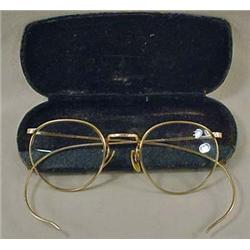 C. 1890'S EYE GLASSES W/ CASE - These are a lot fa
