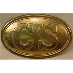 CS CONFEDERATE STATES BELT BUCKLE - Appears newer