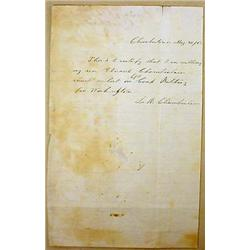 1862 CIVIL WAR ERA LETTER - FATHER WILLING SON TO