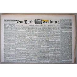 6-27-1865 CIVIL WAR ERA NEWSPAPER - NEW YORK TRIBU