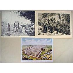 LOT OF 3 LARGE PRINTS - incl. Large photo print of