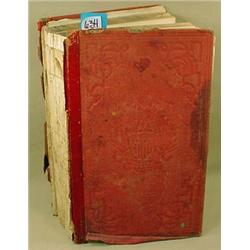 """1862 """"MILITARY DICTIONARY"""" HARDCOVER BOOK - Damage"""