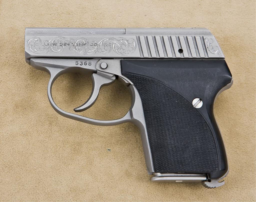 Engraved L W  Seecamp Co  DA semi-auto pocket pistol,  25 ACP cal