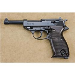 "P38 semi-automatic pistol by Walther coded ""AC-41"", 9mm caliber, Nazi proofed, serial number ""12H""."