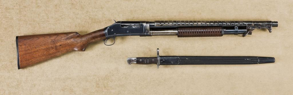 Winchester model 1897 US Property-marked riot length or