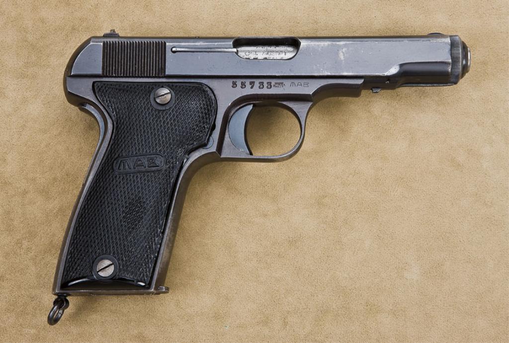 Nazi-proofed French MAB Model D semi-auto pistol, 7 65mm cal