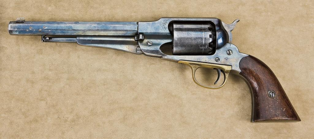 Remington New Model 1858 percussion revolver, martially inspected