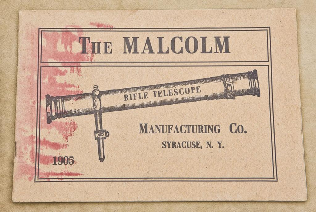 Malcolm Rifle Telescopes 1905 Catalog