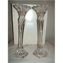 Exquisite Mikasa Crystal Candle Holders