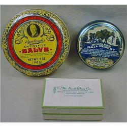 LOT OF 3 VINTAGE ADVERTISING ITEMS - INCL. TINS -