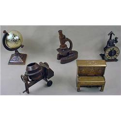 LOT OF 5 FIGURAL PENCIL SHARPENERS - Incl. Piano,