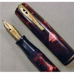 VINTAGE WATERMAN RUBY RED PEARLIZED FOUNTAIN PEN -