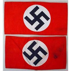 LOT OF 2 WW2 GERMAN NAZI ARMBANDS